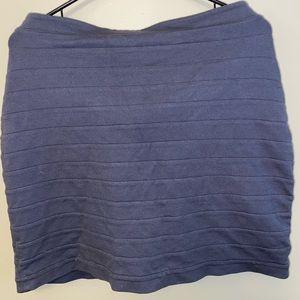 Grey Ribbed Pencil Skirt